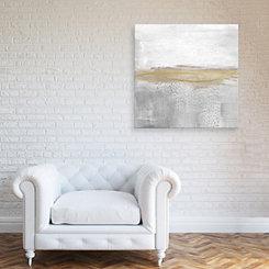 White Gold Embellished Canvas Art Print