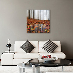 Fall Puddle Coated Canvas Art Print