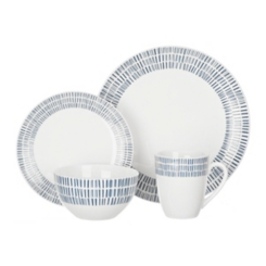 Blue and White Rhythm 16-pc. Dinnerware Set