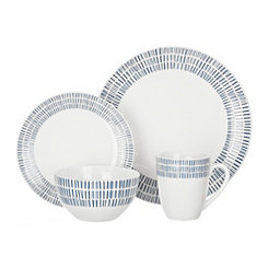 Blue and White Rhythm 16-pc. Dinnerware Set