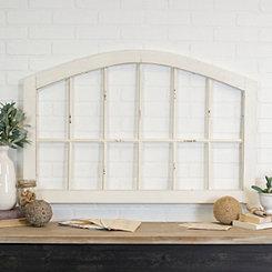 Cream Camryn Wood Arch Plaque