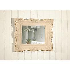 Ornate Resin White Wall Mirror