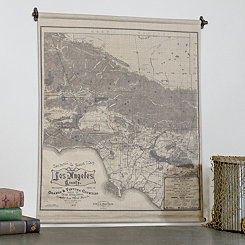 Los Angeles Map Tapestry