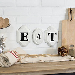 Eat Vintage Metal Letters Wall Signs, Set of 3
