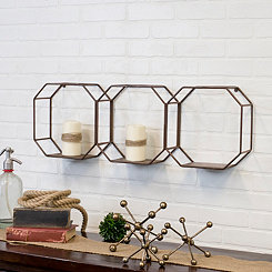 Metal Dimensional Triple Wall Shelf