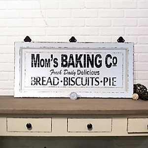 Mom's Baking Co. Wood Sign
