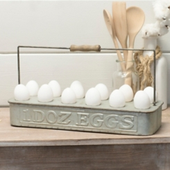 Galvanized Metal Egg Tray