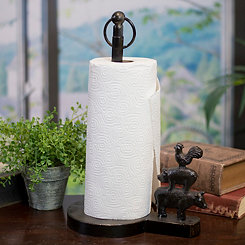 Metal Farm Animal Paper Towel Holder