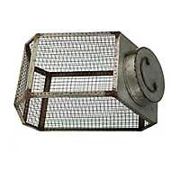 Galvanized Metal Caged Canister