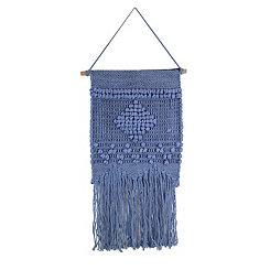 Blue Diamond Macrame Wall Hanging