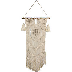 Natural Diamond Macrame Wall Hanging