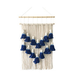 Blue Tassel Macrame Wall Hanging
