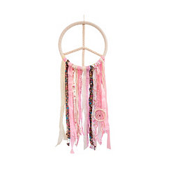 Pink Peace Sign Dream Catcher
