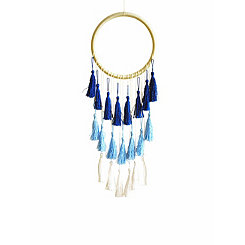 Blue Ombre Tassel Dream Catcher