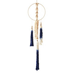 Blue Dangling Macrame Wall Hanging