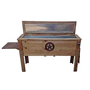 Rustic Star Wooden Patio Cooler