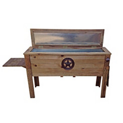 Rustic Star Wooden Patio Cooler