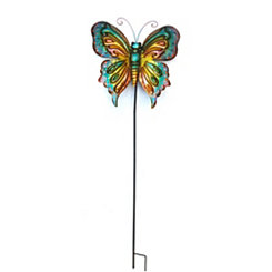 Multicolored Butterfly Garden Stake