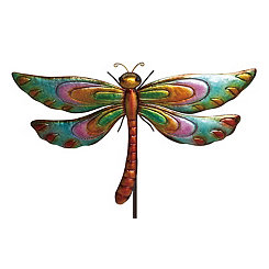 Multicolored Dragonfly Garden Stake