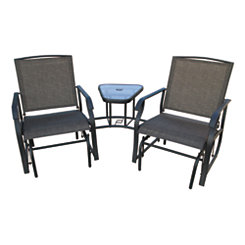 Two-Person Chairs Glider with Table