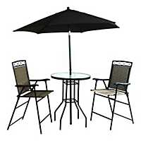 Bar Height 4-Pc. Patio Set with Folding Umbrella