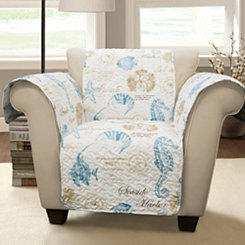 Blue Sea Life Armchair Protector