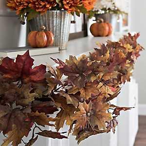 Maroon Maple Leaf Garland