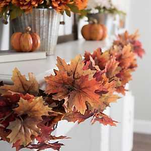 Orange Maple Leaf Garland