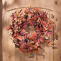 Orange Maple Leaf Wreath