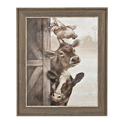 Looking For Trouble Animals Framed Art Print