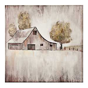Barn in Pasture Canvas Art Print