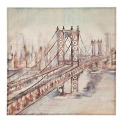 City Bridge Canvas Art Print