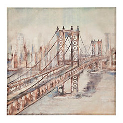City Bridge Canvas Art Print