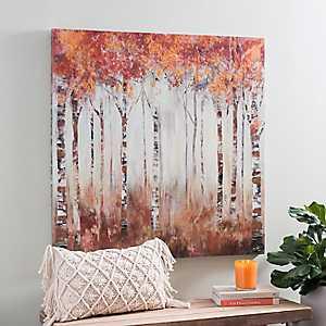 Maple Grove Forest Canvas Art Print