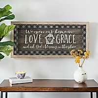 Love and Grace Plaid Shadow Box