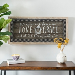 Love and Grace Plaid Shadow Box