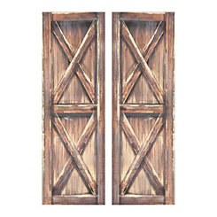 Barn Door Canvas Art Prints, Set of 2