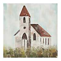 Little House Church Canvas Art Print