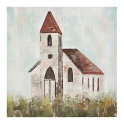 Little House Church Canvas Art Print
