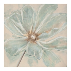 Hand Painted Blue Flower Canvas Art Print
