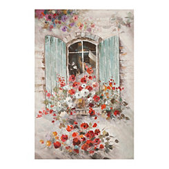 Summer Window Canvas Art Print