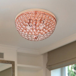Rose Gold Crystal Flush Mount Ceiling Light