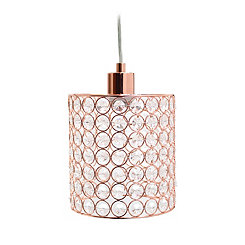 Rose Gold Crystal Pendant Light
