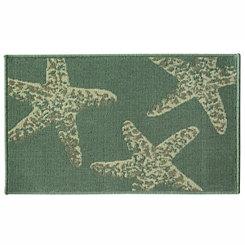 Blue Starfish Accent Rug