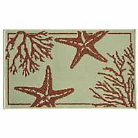Coral Starfish Accent Rug