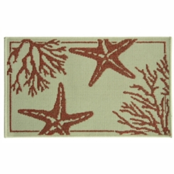 Coral Starfish Accent Rug, 2x3