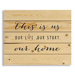 This Is Us Wood Pallet Art Print