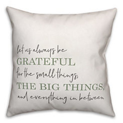 Sage Green Grateful Pillow
