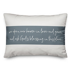God's Blessings Striped Pillow