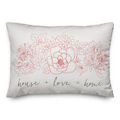 Pink Floral Home Pillow